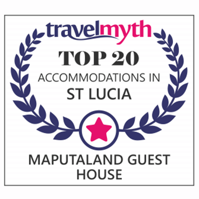 Maputaland Guest House is ranked in the top 20 accommodations in St Lucia